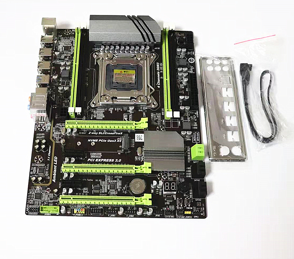 X79T motherboard DDR3 LGA 2011 Processor computer channels gaming Support M.2 E5-2680V2 i7 SATA 3.0 USB 3.0 for Intel B75 image