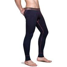 Men's Cotton Thermal Underwear Bottoms Mens Long Johns Sleep Bottoms Thin Elastic Waistband Pijamas Pants Tights 5XL 6XL 2498