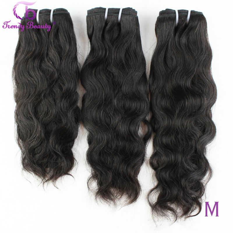 Brasilianische Natürliche Welle Haar 100% Menschliches Haar Extensions 3 stücke Lot 8-30 Zoll Brasilianische Haarwebart Bundles Nicht-Remy Trendy Schönheit