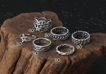 925 Sterling Silver Jewelry for Men Women Star Hollow weave fashion Opening Ring Gift chic hollow out letter opening ring for women