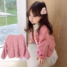 Girls Sweater Cardigan Knit Outwear Baby Sweet Korean Children Autumn Cute Soft Coats