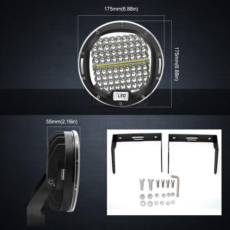 2 stücke 7 Zoll 300W 5X7 7X6 LED Arbeit Licht Spot Strahl Runde Offroad Fahren licht Für Jeep ATV UAZ SUV 4x4 Lkw Traktor Boot Wrangle - 5