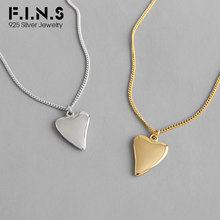 F.I.N.S Two-tone 925 Sterling Silver Necklace INS Glossy Hea