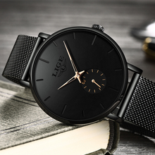 LIGE Sports Date Mens Watches Top Brand Luxury Waterproof Casual Watch Men Ultra Thin Dial Quartz Watch Casual Relogio Masculino fotina casual brand bosck quartz men watch ultra thin waterproof unisex stainless steel women dress ultra thin watches for men