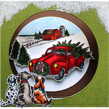 Clear Stamps Drive Christmas home with Doggies Transparent Stamp for DIY scrapbooking Album Crafts Cards Decoration New 2019 busy doggies