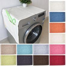 Одноцветные водонепроницаемые чехлы для стиральной машины, холодильник, стиральная машина, духовка, пылезащитная крышка с карманом