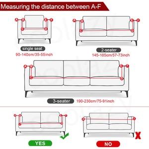 Image 2 - Geometryczna narzuta na sofę elastyczna rozciągliwa uniwersalna narzuta na sofę s przekrój kanapy pokrowiec narożny na fotele meblowe 1/2/3/4 seater