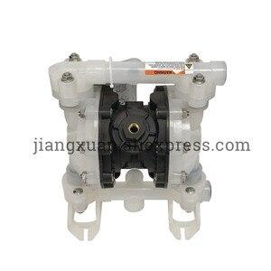 """Image 2 - BML 15P 57L/Min1/2 """"PP malzeme PTFE plastik hava ile çalışan pnömatik diyafram pompası çift yönlü sıvı BML 15 diyaframlı pompa"""