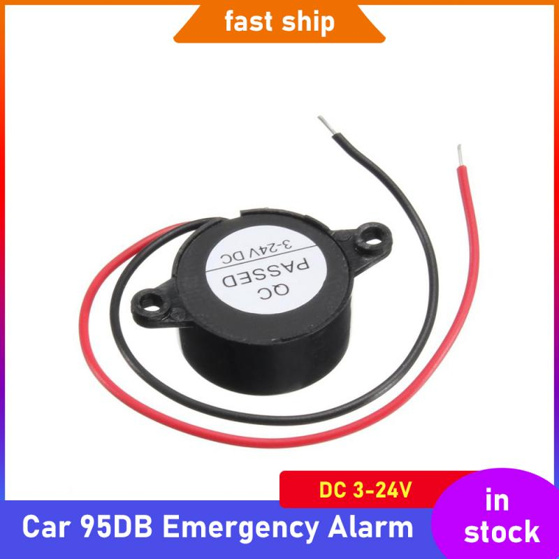 Auto Car 95DB Emergency Alarm DC 3-24V 5V 1Car 12V Beep Piezo Electronic Buzzer Alarm 95DB Continuous Sound Beeper