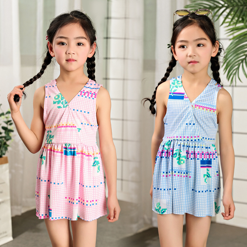 Children Two-piece Swimsuits Separate Boxers Children Girls Swimwear Children's Swimsuit New Style 2019 Korean-style