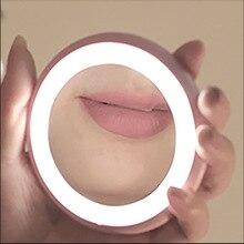 Креативный перезаряжаемый светодиодный зеркало для макияжа с лампой мультипликационный Многофункциональный туалетный зеркало для путешествий портативный макияж принцессы Mirr