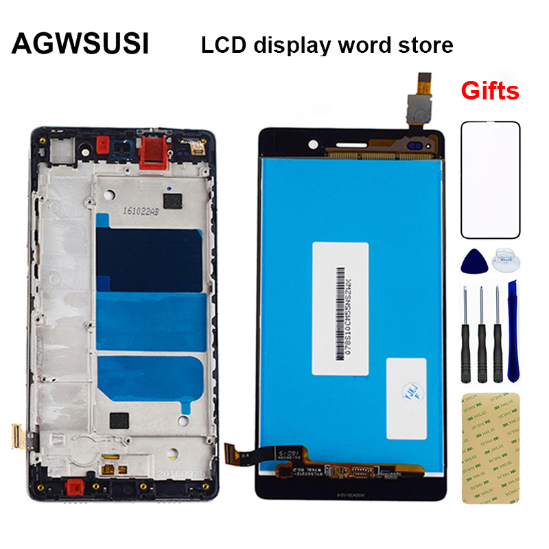 LCD For Huawei P8 Lite LCD Touch ALE L04 L21 LCD Display Screen Panel  + Touch Screen Digitizer Sensor Glass Assembly Frame