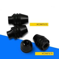 0.3-3.2mm Mini mandrin de forage sans clé M7 M8X0.75 changement rapide mandrin de forage à trois mâchoires pour outils rotatifs Mini perceuse pour Dremel