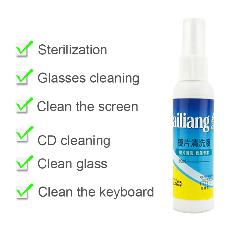 Anti-nevoeiro óculos de limpeza de lente portátil óculos de sol óculos de sol solução de limpeza spray suprimentos de limpeza