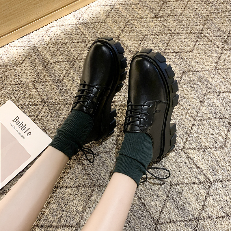 Soft Retro Small Shoes Women New Fashion Wild Thick Bottom College Wind Students High-quality Leather Single Shoes W40-83