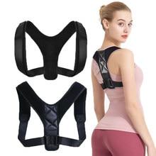 Suspensórios suporta cinto de volta postura corrector clavícula coluna ajustável volta ombro lombar cinta médica correção postura cinto