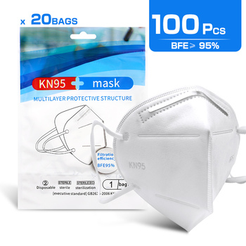 100PCS Mouth NK95 Masks 4-layer Anti-Dust Disposable Mascarillas Non Woven Meltblown Cloth Masks Elastic Ear Loop Face Mask