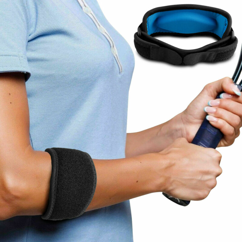 Esportes de fitness tênis cotovelo cinta tendonite golfistas gel banda alívio da dor de golfe apoio cotovelo