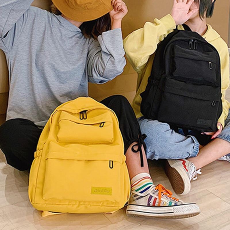 New Waterproof Canvas Backpack For Women Multi Pocket Travel Backpacks Female School Bag For Teenage Girls Book Mochilas