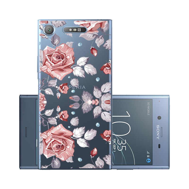 Cassa Del Telefono morbida Per Sony Xperia XZ1 XZ2 XZ3 XZ4 Caso Della Copertura Del Silicone per Sony XZ1 XZ2 XZ4 Compatto Custodie coque Fundas Capa Paraurti