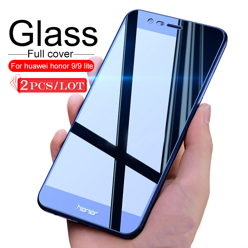 2Pcs Tempered Glass For Huawei Honor 9 Lite Protective Glass For Honor 9 Honor9Lite 9Lite Light Film Full Cover Screen Protector
