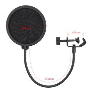 Image 2 - Máscara de viento de Micrófono de estudio bidireccional de 100mm de diámetro, protector de filtro Pop para micrófono, para hablar en estudio, cantar y grabar