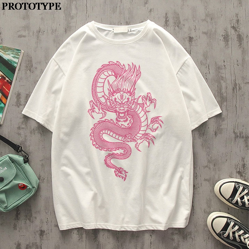 Chinese Dragon Graphic Tee Summer <font><b>Korean</b></font> <font><b>Style</b></font> Tops <font><b>Oversized</b></font> T <font><b>Shirt</b></font> Harajuku Tops Unisex 2020 Aesthetic Tshirts <font><b>Men</b></font> Clothing image