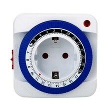 15Mins-24 часа, таймер, механический таймер, розетка, выключатель питания, таймер, бытовая техника, вилка европейского стандарта, энергосбережение(вилка европейского стандарта