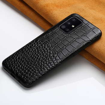 Genuine Leather Phone Cover Case for Samsung Galaxy A50 A70 A71 A51 2020 A21S S20 Ultra S20 FE S8 S9 S10 Plus Note 20 10 9 M31
