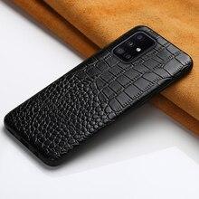 Hakiki deri kapak kılıfı için Samsung Galaxy A51 2020 A71 A50 A31 M31 M51 S20 FE S21 S20 Ultra S8 s9 S10 S21 artı not 20 10 9 A 71 A 51 2020 A21S S21 Ultra S10 Plus S20 Plus Note 20 Ultra Note 10 Plus