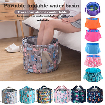Foldable Foot Tub Portable Bath Bag Wash Basin Water Bucket Large Capacity Bath Feet Spa Massage Washing Tub For Outdoor Travel ionic detox foot bath spa tub basin