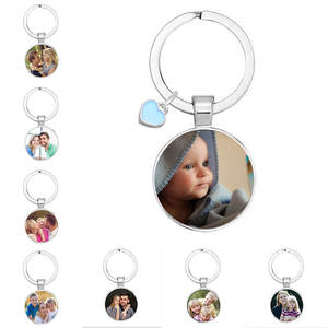 Custom Keychain Photo-Pendants Mom Gift Grandparent Baby Personalized Family Loved Dad