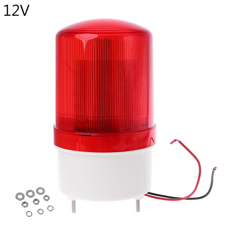 220V/12V/24V LED Alarm Light Warning Lamp Signal Buzzer Rotary Flash Emergency Sound Alarm Light