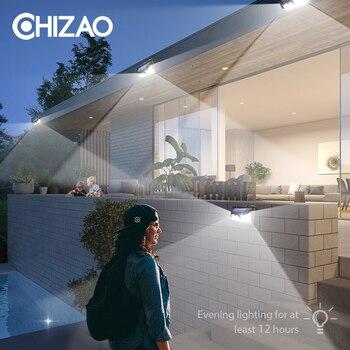 Chizao Led Luzes Solares Ao Ar Livre Sensor De Movimento Lâmpadas Parede Luz Emergência à Prova Dwaterproof água Adequado Para Jardim Porta Da Frente Garagem Cerca