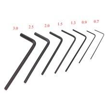 7 sztuk/zestaw Mini sześciokątny sześciokątny zestaw kluczy imbusowych wkrętak zestaw narzędzi ręcznych mikro klucz sześciokątny 0.7mm 3mm