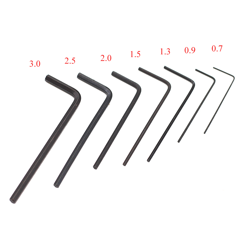 7pcs/set Mini Hexagon Hex Allen Key Set Wrench Screwdriver Hand Tool Kit Micro Hex Wrench 0.7mm-3mm