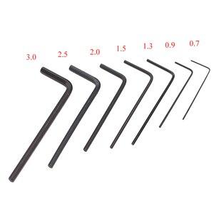 Image 1 - Mini clé Allen hexagonale, tournevis, Kit doutils manuels, Kit doutils manuels, Micro hexagonale de 0.7 à 3mm, 7 pièces/ensemble