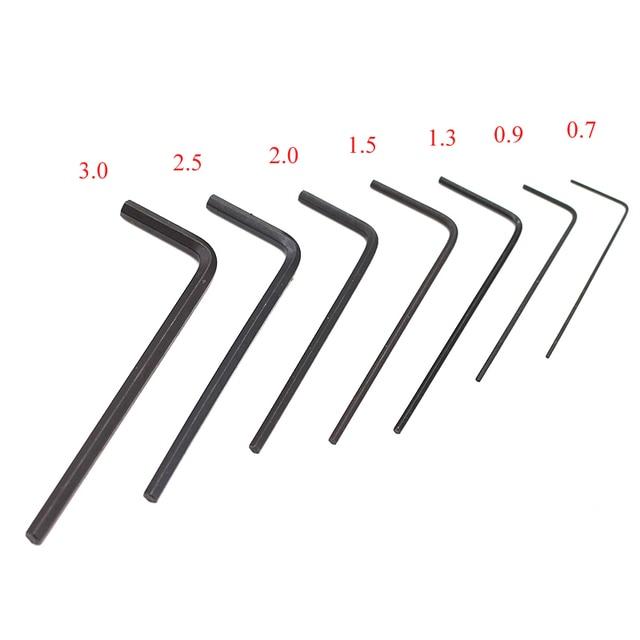 Mini clé Allen hexagonale, tournevis, Kit doutils manuels, Kit doutils manuels, Micro hexagonale de 0.7 à 3mm, 7 pièces/ensemble