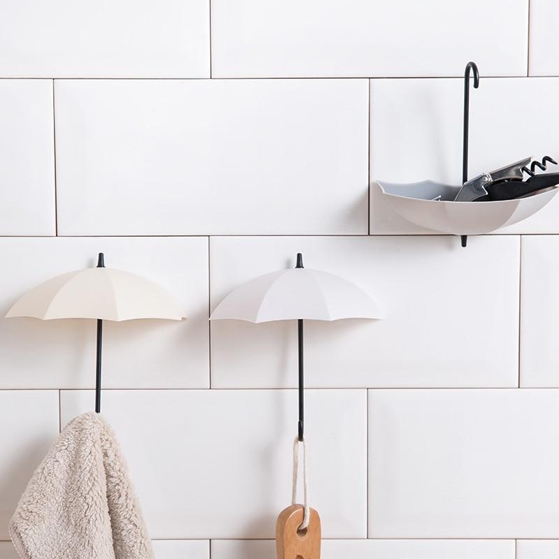 סט מחזיקי מפתחות לקיר בצורת מטריות 5