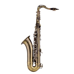 Image 2 - Muslady Antique Finish Bb Tenor Saxophone Sax Brass Body White Shell Keys Woodwind Instrument with Carry Case Sax Neck Straps
