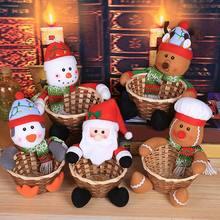 Легкая Рождественская декоративная корзина для конфет Рождественское