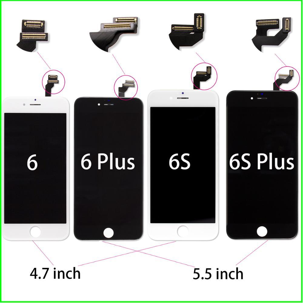 Garantia de vida pantalla lcd para iphone 6g a1549 a1586 ecran telas digitador assembléia lcd substituição display sem pixel morto
