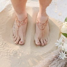 Bohemia Beach Barefoot Sandals Vintage Foot Jewelry For Women Anklets Bracelet Gold Silver Color Foot Chain Accessories 1pc pendant anklets barefoot sandals beads indian gold silver beads sequins anklets bracelet for women jewelry foot chain anklets