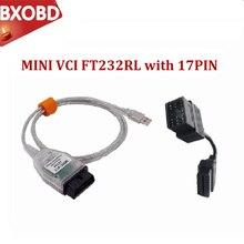 Mais recente mini vci ft232rl v14.20.019 tis techstream mini vci j2534 cabos e conectores de diagnóstico do carro mini relação vci