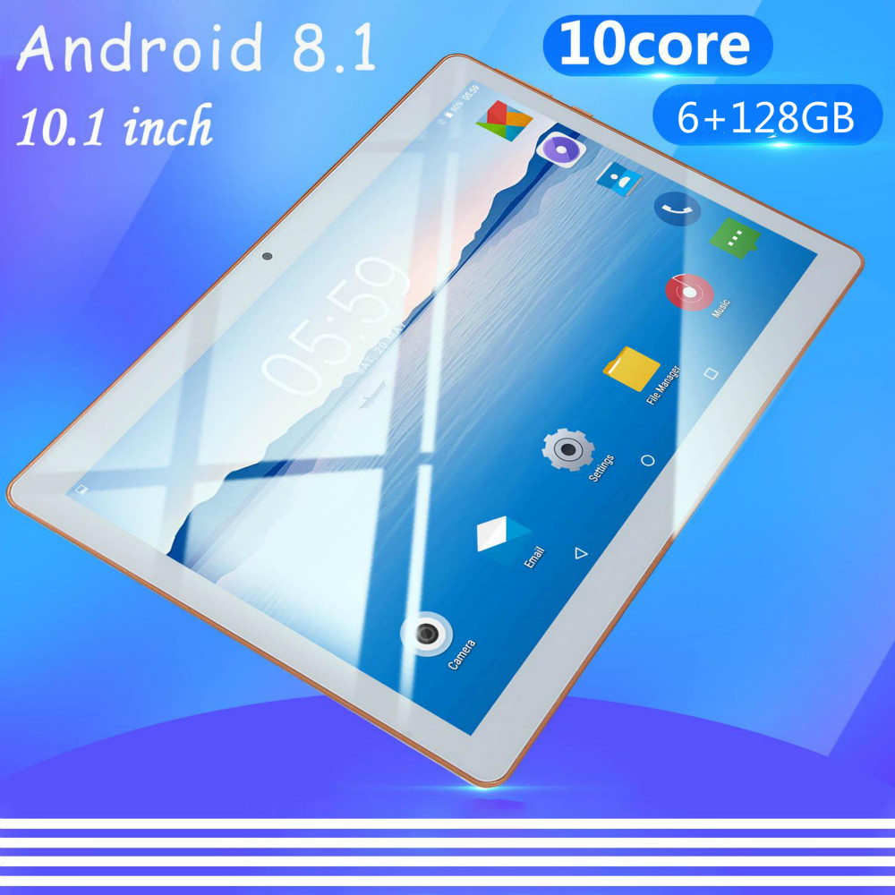 2020 New 4G LTE Phone Call 10.1 Inch Android 8.0 Tablet PC 8 GB RAM 128GB ROM 8000mAh Battery IPS Screen HD 1280x800 WiFi Tablet