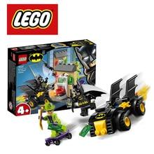 LEGO DC superbohaterowie Batman vs the Riddler rabunek zestaw do budowania Lego Ninjago Duplo klocki do budowy 76137 DIY edukacyjne zabawki