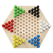цены Children's Educational Toys Wooden Hexagon Checkers Toys Children's Puzzle Checkers Toys Table Game Chess