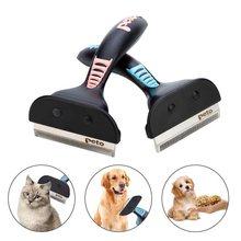 Pet removedor de pêlos escova gato cão grooming pente acabamento do cabelo remoção guarnição ferramenta escova do cão limpador de cabelo para cães gatos pet suprimentos
