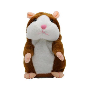 Talking Hamster Mouse Pet Plush Toy Cute Speak Talking Sound Record Hamster Educational Toy for Kids Plush Hamster Stuffed Toys hamster ball electric toy plush hamster electric toys scroll walk little toy animal for children gift electronic pets toy