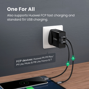 Image 4 - Ugreen Quick Charge 3.0 36W Qc Usb Wall Charger Voor Samsung Xiaomi Iphone X QC3.0 Opladen Eu Adapter Snelle mobiele Telefoon Oplader
